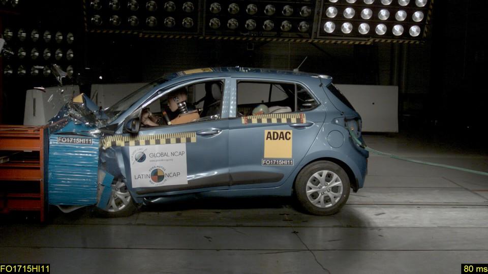 هيونداي جراند i10 الهندية تحصل على أسوأ تقييم في اختبارات السلامة