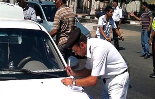 حملات الإدارة العامة لمرور القاهرة خلال النصف الأول من الشهر الجارى