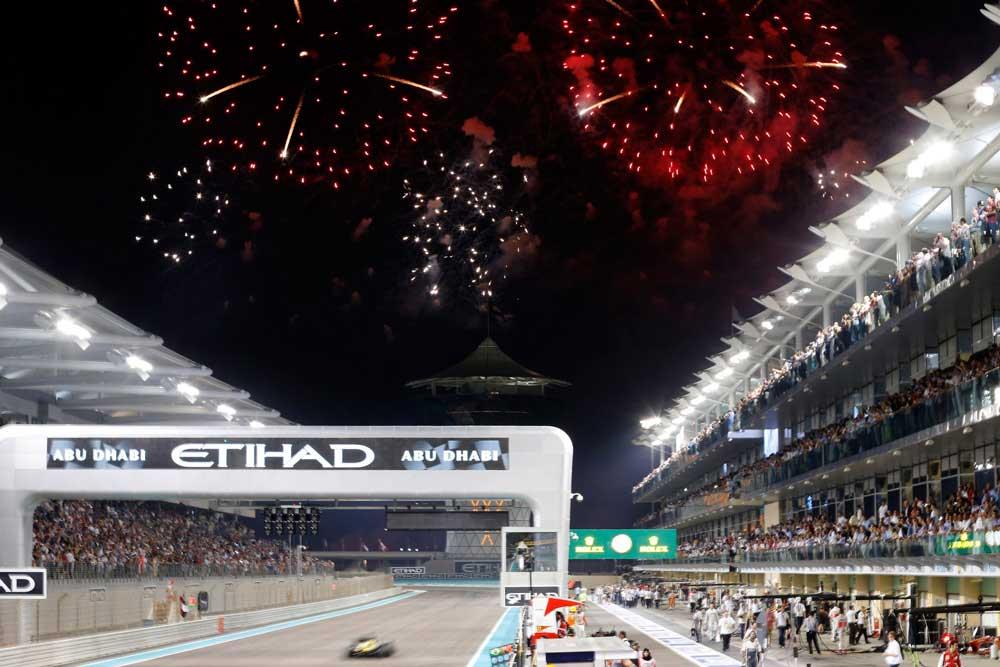 سباق جائزة أبو ظبي الكبرى فورمولا1 ينتهى اليوم