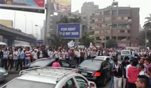 تجمعات مشجعي الزمالك تغلق ميدان لبنان ومدخل جامعة الدول العربية