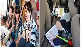 كيف تحافظين على نظافة سيارتك من فوضى أطفالك
