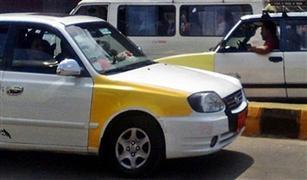 """سائقو التاكسى بكفرالشيخ يتظاهرون ضد سيارات الملاكي التي تعمل كـ""""أجرة"""""""