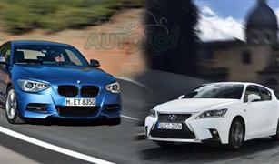 مقارنه بين BMW الفئة الأولى و لكزس CT  2016
