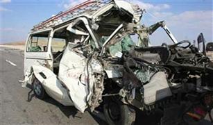 """انفجار الإطار الخلفي يتسبب في مقتل شخص وإصابة 12 على """"الإسكندرية الصحراوي"""""""