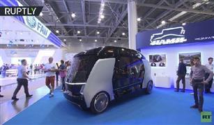 شاهد بالفيديو.. حافلة كهربائية ذات قيادة ذاتية بمعرض موسكو