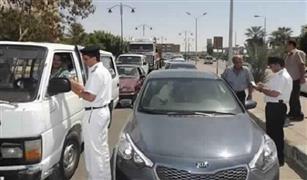 حجز 11 توك توك و 6 سيارات بدون لوحات في حملات مرورية بالقاهرة