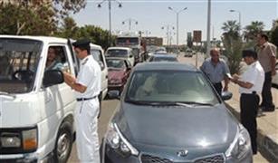 حجز 20 توك توك وسحب 384 رخصة قيادة في حملات مرورية بالقاهرة