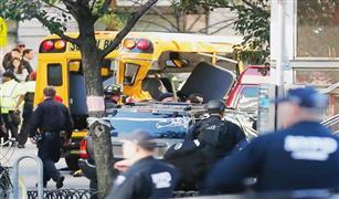 """بالصور  ثمانية قتلى دهسا بشاحنة صغيرة في هجوم """"ارهابي""""  علي حافلة مدرسية وقائدي الدراجات في نيويورك"""