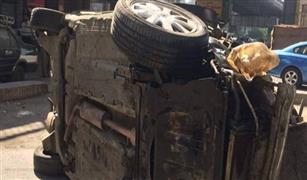 سقوط سيارة من كوبرى اكتوبر أعلى الدمرداش