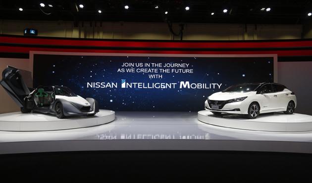 تعرف على أحدث ابتكارات نيسان من السيارات الكهربائية بمعرض  دبي للسيارات - الأهرام اوتو