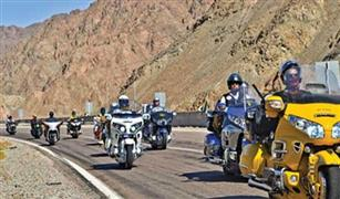 بالصور: مسيرة لقائدى الدراجات النارية من القاهرة إلى شرم الشيخ