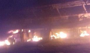 عاجل بالصور.. تفحم  أوتوبيس دورين على طريق الإسكندرية الصحراوي