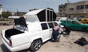 بالصور.. شباب فلسطين يصنعون سيارة زفاف في 3 أشهر