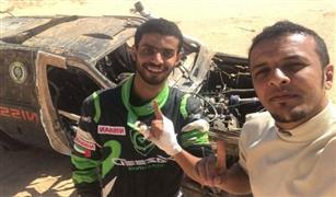 على سرعة 160كم.. انقلاب سيارة الحرس الملكي السعودي في رالي حائل