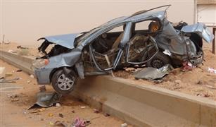 """مصرع وإصابة 6 أشخاص في تصادم نقل بمقطور مع ملاكي بـ""""الإسكندرية الصحراوي"""""""
