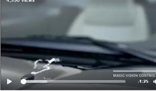 شاهد بالفيديو.. تقنية مذهلة في مساحات زجاج مرسيدس الجديدة