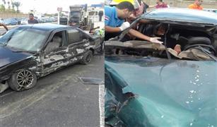 بالصور. . إصابة 6 أشخاص فى تصادم 5 سيارات بكوبرى الشهيد بمدينة نصر