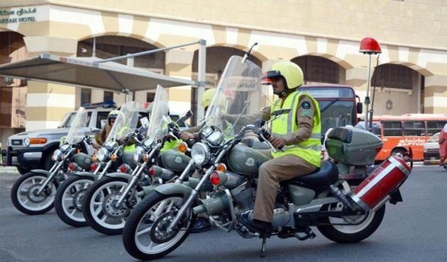 الدفاع المدني السعودي يخصص300 فرقة دراجات نارية للتدخل السريع في مكة