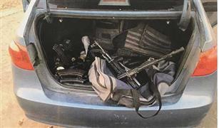 بعد معركة بالرصاص ضبط سيارة ومجموعه ارهابية اطلقت الرصاص علي الشرطة