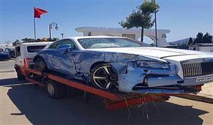 بالصور..حسرة:. تحطم سيارة «رولز رويس» في حادث بالمغرب