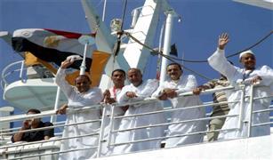 أول أفواج الحج البرى يغادر ميناء نويبع البحرى