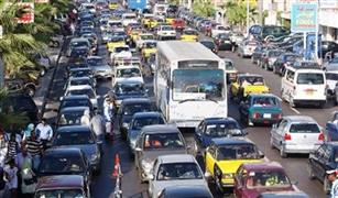 كثافات مرورية على محاور القاهرة