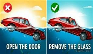 إذا غرقت سيارتك لا تفتح الباب.. طريقة لإنقاذ نفسك في دقيقة واحدة!