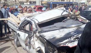 مصرع ٤ أشخاص وإصابة ٣٣ آخرين فى تصادم ميكروباص ونقل على الطريق الأقليمى