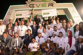 """فوز فريق جامعة عين شمس في نهائيات """"رالي القاهرة الأول للسيارات الكهربائية المحلية"""