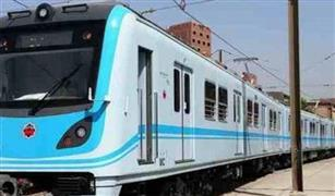 سقوط بوجى  أحد قطارات مترو الخط الأول من القضبان بحوش محطة حلوان