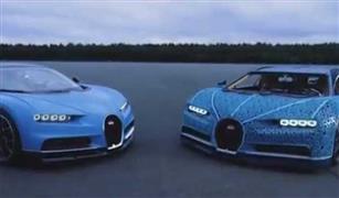 إبداع المكعبات.. شركة ألعاب تشارك بنموذج مبهر للسيارة بوجاتي في معرض باريس| فيديو