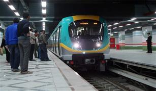 انتظام حركة قطارات الخط الثانى لمترو الانفاق بعد سحب القطار المعطل