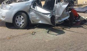 تصادم ٤ سيارات منزل كوبرى الطيران يسفر عن ٢ مصابين