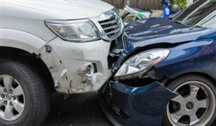 كثافات مرورية أمام وزارة المالية بمدينة نصر بسبب  تصادم سيارتين