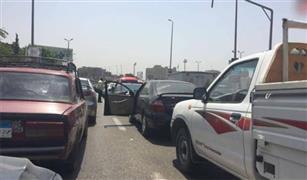 كثافات مرورية عالية على  محور آل أن ايه الكورنيش النيل  تعرف على الأسباب: