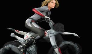 فن غريب .. دراجات نارية من أجسام البشر !