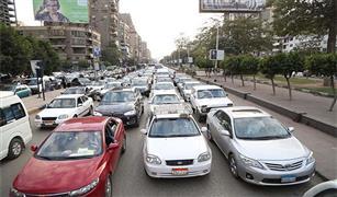 اعطال سيارات غير مؤثرة على حركة المرور بالقاهرة .