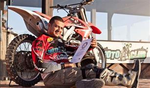 المغامر المصري للعام الثاني في موسوعة جينيس بأطول مسافة قيادة دراجة موتوكروس