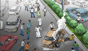 كيف تتعامل شرطة ابو ظبي مع من يوقفون سياراتهم لمشاهدة الحوادث ؟