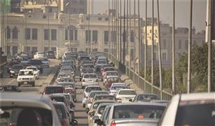 تصادم سيارتين فى عباس العقاد  واعطال على كوبرى أكتوبر