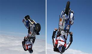 شاهد.. مغامر يقفز بالسكوتر من طائرة تحلق في الجو| فيديو
