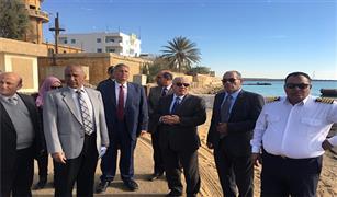 جولة ميدانية لرئيس هيئة موانى البحر الأحمر بموانىء السويس و الزيتيات لمتابعة اعمال التطوير