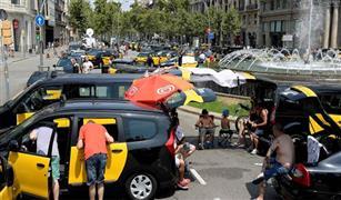 """سائوا التاكسي في إسبانيا يضربون عن العمل احتجاجا على """"أوبر"""""""
