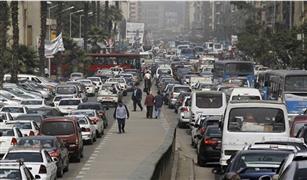 الحالة المرورية. كثافات مرورية عالية بمحاور القاهرة والجيزة.