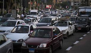 الحالة المرورية اليوم : كثافات عالية بمحاور القاهرة والجيزة.