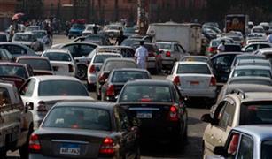 الحالة المرورية اليوم : تكدس سيارات على اتوستراد المعادى ونفق الأزهر بسبب تصادم سيارتين