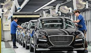 انخفاض إنتاج كوريا الجنوبية من السيارات للعام التاسع