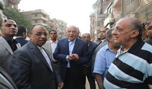 وزير التنمية المحلية ومحافظ الجيزة يتفقدان المحاور المرورية الجارى تطويرها بالمحافظة