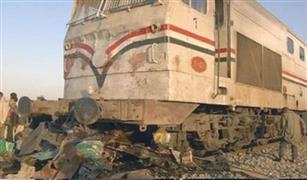 وفيات وإصابات جراء اصطدام قطار بسيارة سوزوكي بمزلقان الحطاب قرب ميت غمر