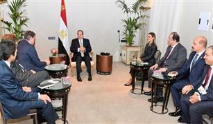 الرئيس السيسي يستقبل رئيس ديلمر العالمية بمقر إقامته في ميونخ